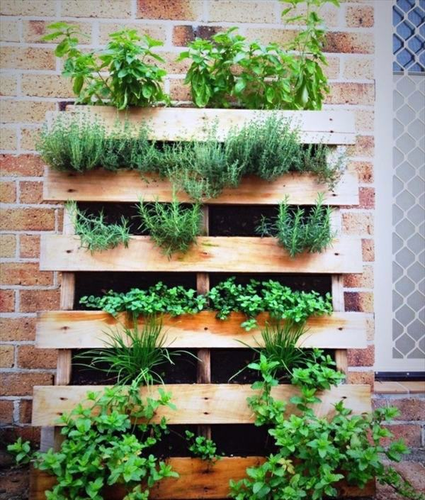 Create a vertical garden for your home by wooden panels Interior