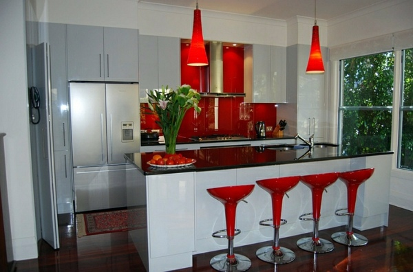 Gorgeous interior design ideas in Red-Black-White | Interior Design ...