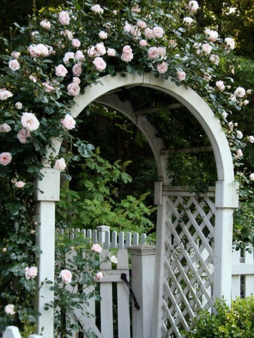Cool Garden Design With Rose Arch Interior Design Ideas
