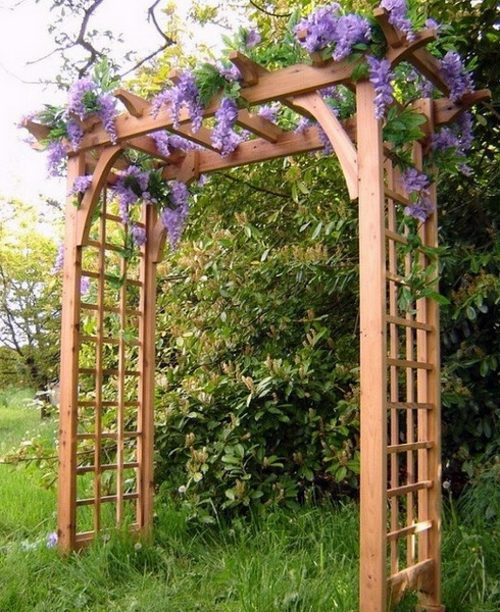 Garden Design Arches Arbor Covered In To Ideas