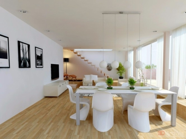 Attractive combination of living and dining room
