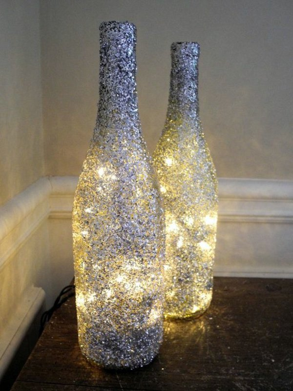 Diy Do It Yourself Diy Lamp From Wine Bottles Creative Decorating Ideas