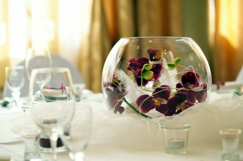Elegant Table Decoration With Orchid Tender And