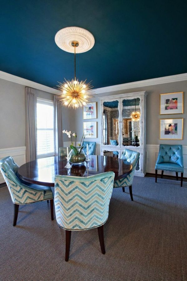 That Bright Blue Ceiling Paint Wall Colors Pictures   40 Inspiring Examples