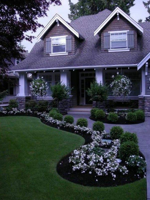 How can one create his front garden design modern for Seagrass for landscaping