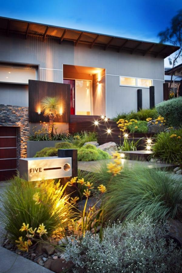 How can one create his front garden design modern for Seagrass landscaping
