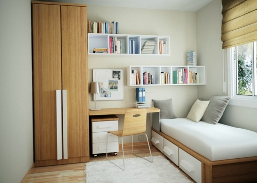 Einrichtungsideen Small bedroom Arrange Mission reachable - how to organize a small bedroom