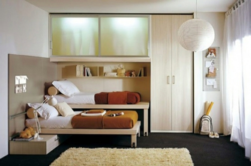 Built-in furniture saves space and stylish look Small bedroom Arrange -  Mission reachable!