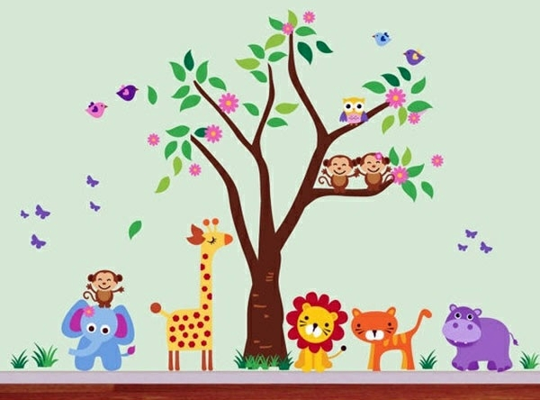 wall decoration designs.  Kinderzimmer Baby Room Wall 15 Art Ideas with animals Interior Design