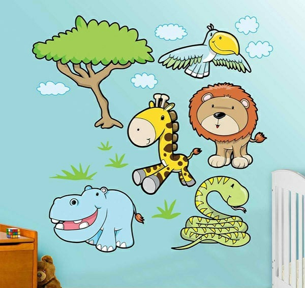 baby room wall 15 wall art ideas with animals - Baby Wall Designs