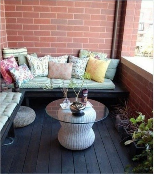 Balcony design plan 30 correctly startling furnishing for Balcony seating