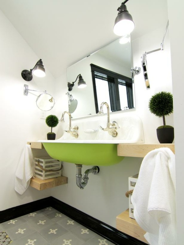 space saving ideas for small bathrooms. Wall  industrial style Ideas for small bathroom Space saving furniture solutions