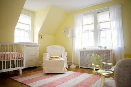Inspiring Yellow And Pink Interior Elements In The Baby Room