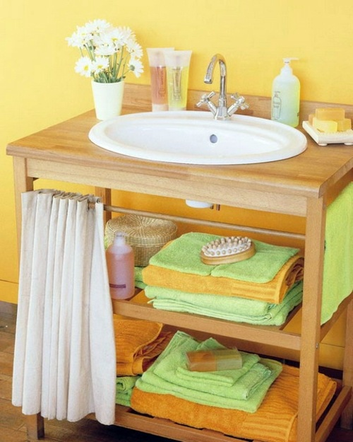 Bathroom with extra storage space