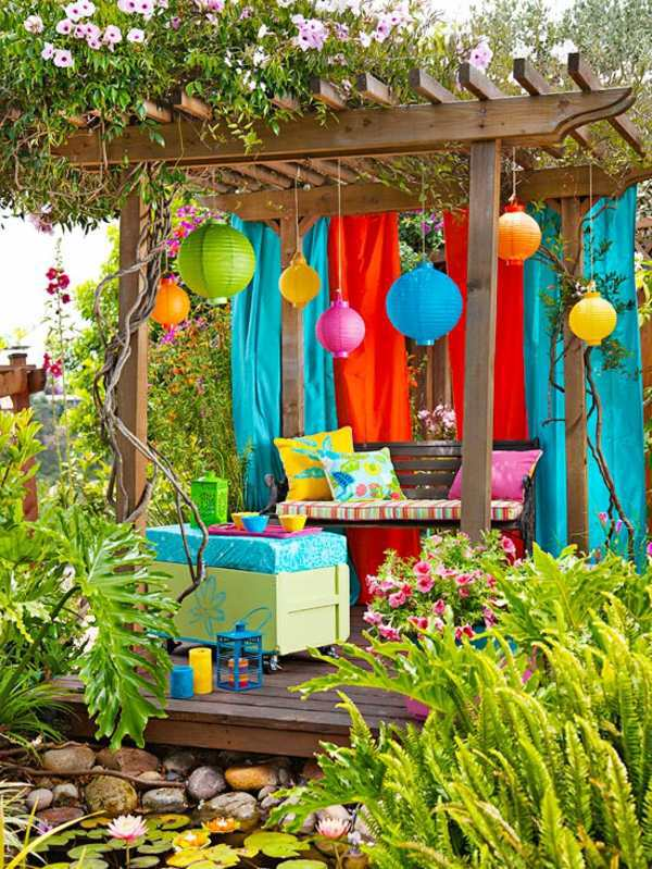 Colourful garden decorations make yourself - how can you ...