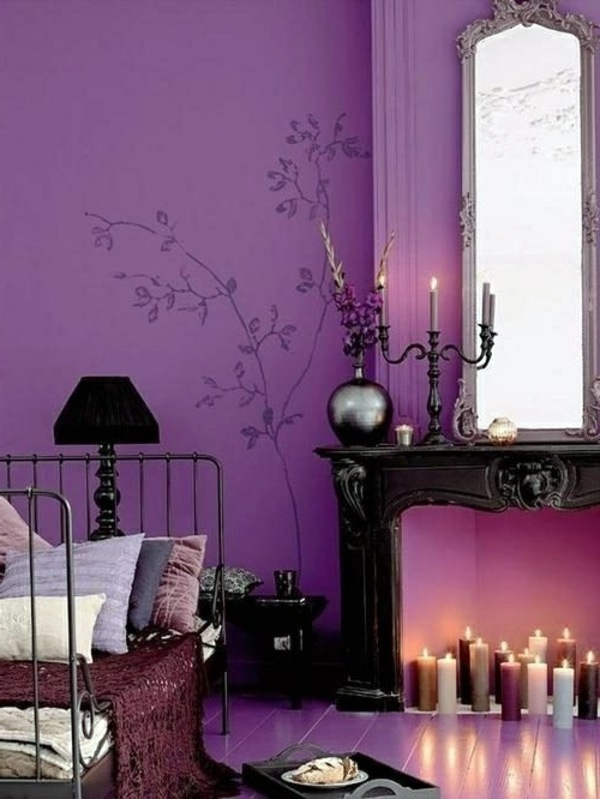 Interior Design Ideas – The violet color in the interior ...