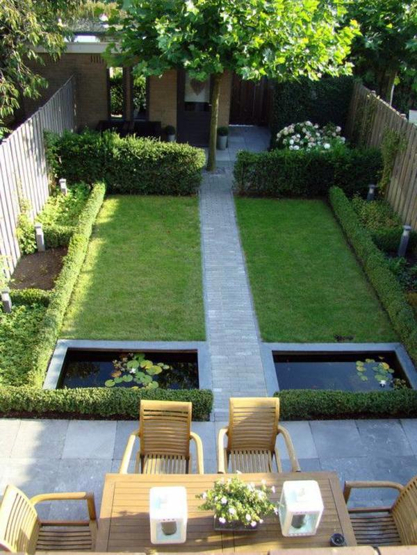 symmetrical layout 103 examples of modern garden design - Garden Examples Photos