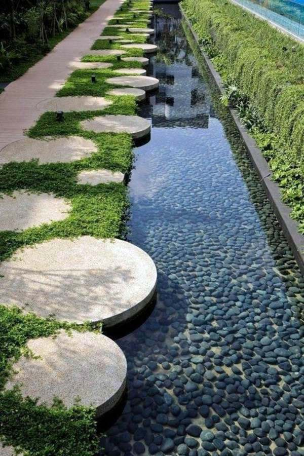 103 examples of modern garden design interior design for Concrete pond design