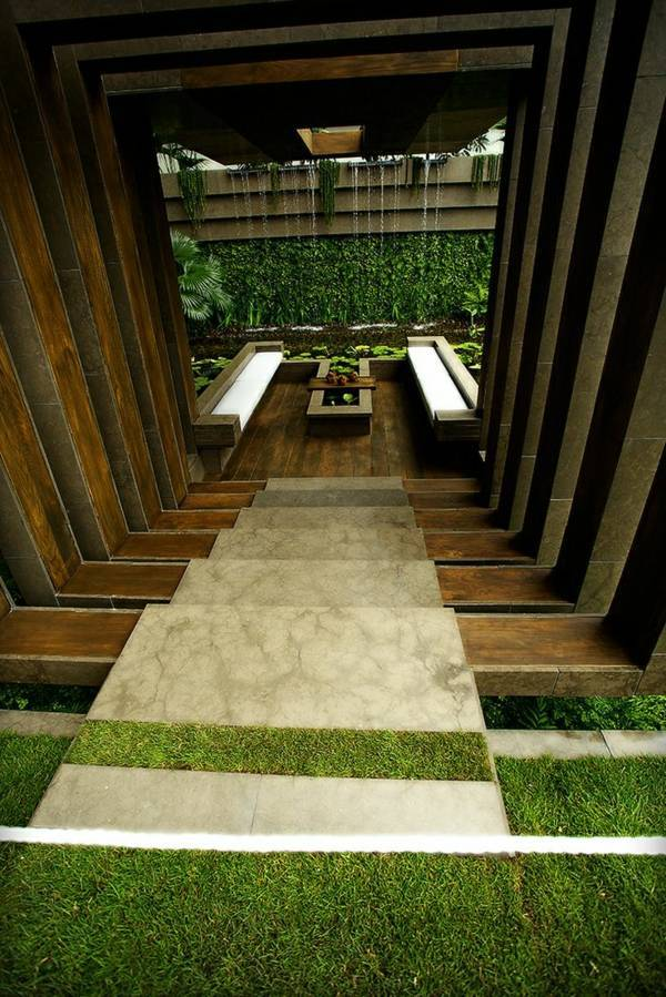 unique patio 103 examples of modern garden design - Brown Garden Design