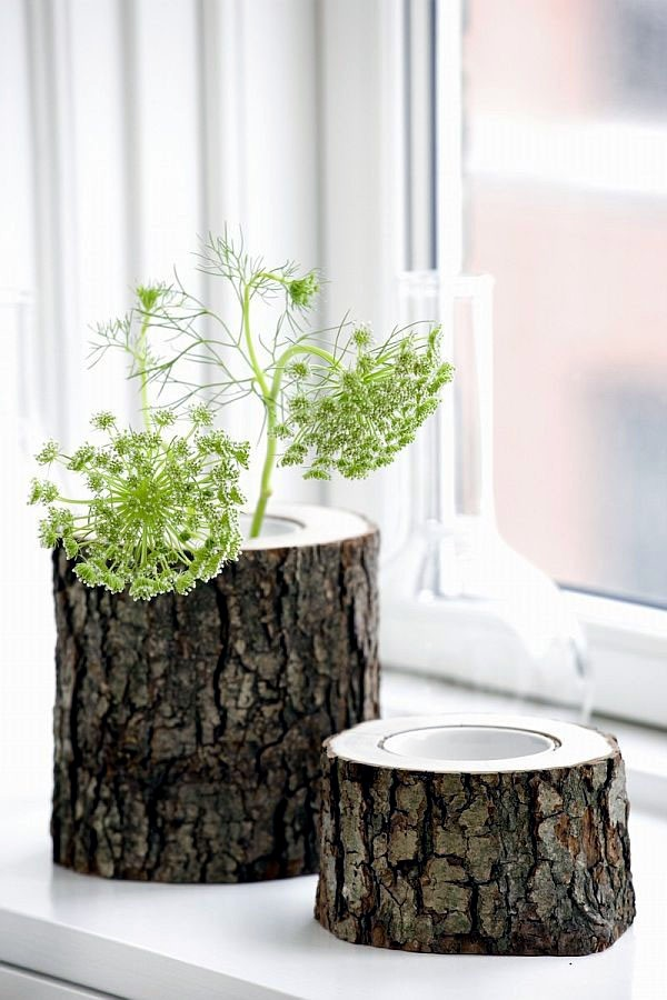Recycled Stump Use In Interior Design And Decoration