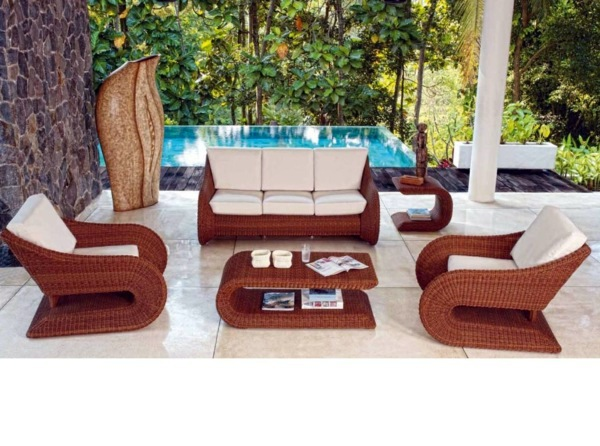 45 outdoor rattan furniture modern garden furniture set for Lounge garden furniture sets