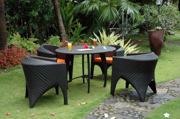 More Example For Meals 45 Outdoor Rattan Furniture   Modern Garden  Furniture Set And Lounge Chair