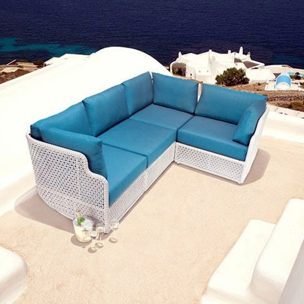 Polyrattan Here Is The Sofa 45 Outdoor Rattan Furniture   Modern Garden  Furniture Set And Lounge Chair
