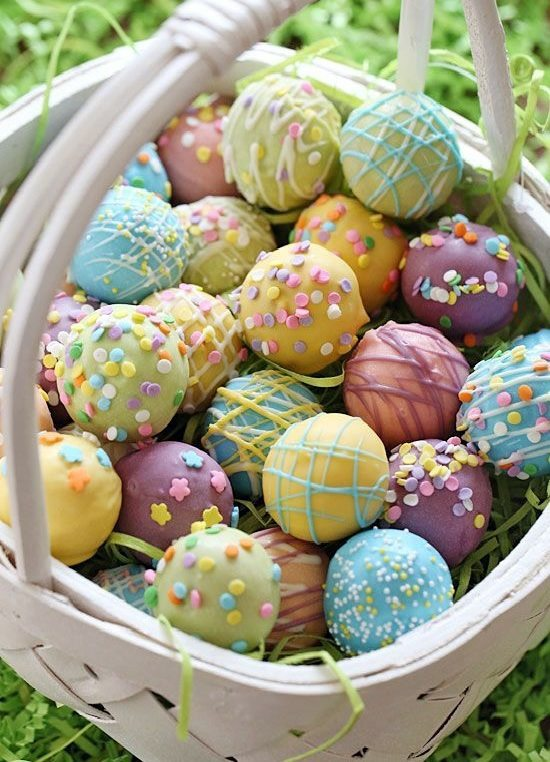 Colorful Candies And Delicious Decorated Ovoid Easter Decoration Craft   30  Adorable Craft Ideas, Including Table Decoration