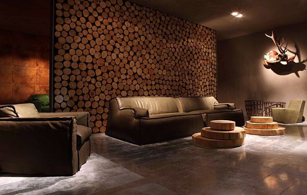 Cool Wall Covering Ideas : Make wall covering made of wood itself beautiful
