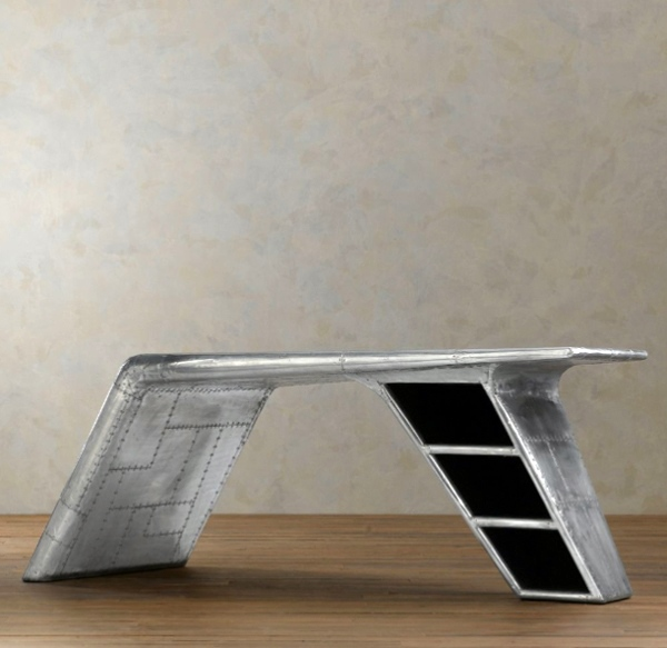 ... Modern Airplane Wing Desk From Restoration Hardware
