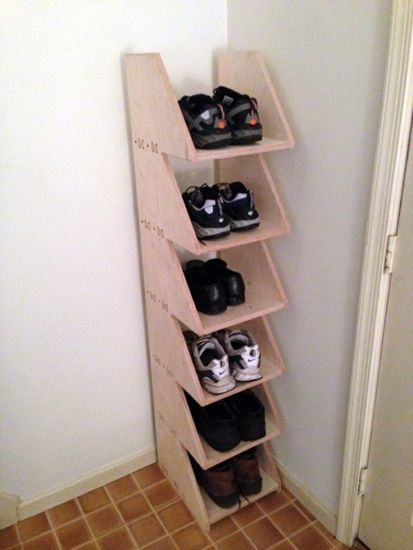 a diy shoe rack may seem interesting and chic interior design ideas avso org. Black Bedroom Furniture Sets. Home Design Ideas