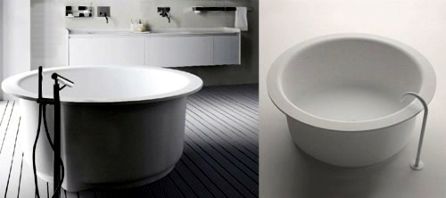Modern Built-in bath tub with space saving design
