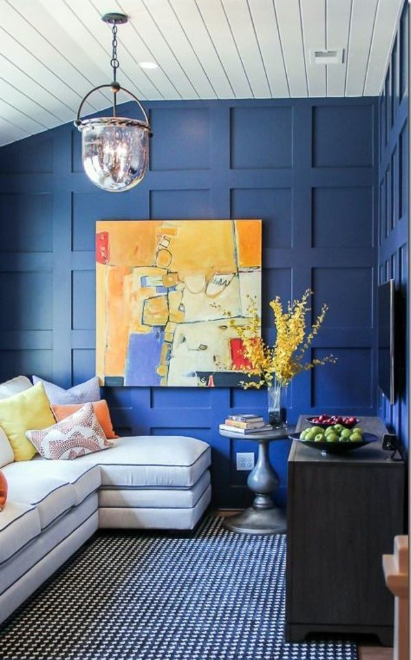 Dark Wood Paneled Room: Wall Paneling In A Fresh Color