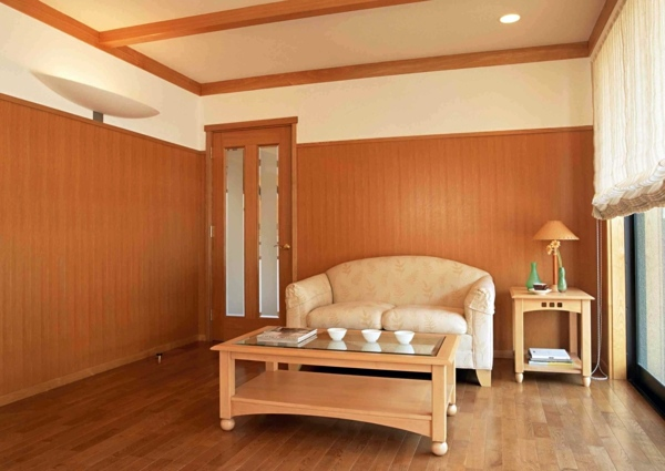 If The Old Paint On Wall Panels Underline Plastic Paneling In A Fresh Color