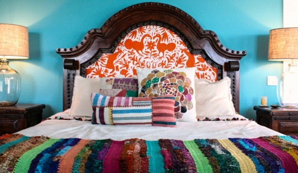 Beautiful Kunterbunte Hand Quilt Modern Interior Design Ideas In The Mexican Style