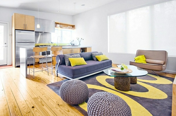 farben living room color scheme gray and yellow - Interior Design Living Room Color Scheme