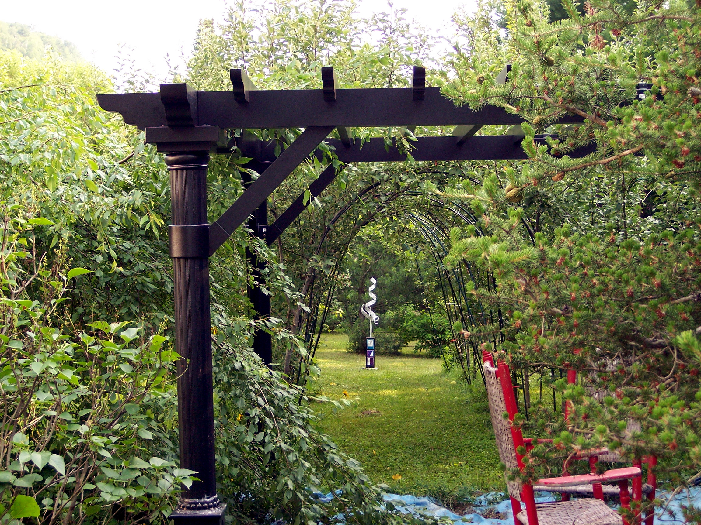 Pergola Made Of Wood Or Metal For A Southern Flair In The Garden Interior Design Ideas Avso Org