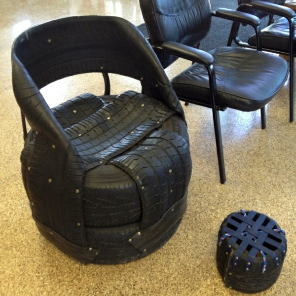 Kitchen Table With Bench Seat And Chairs 100 DIY furniture from car tires – tire recycling | Interior Design ...