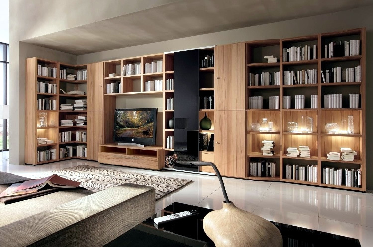 Modern House Library Design