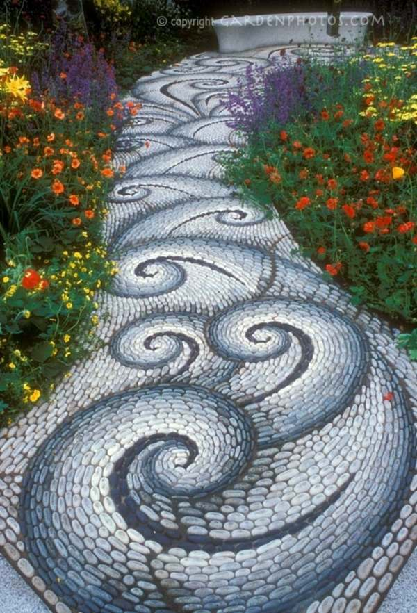 curved path in interesting shapes creative design rock garden 30 frames and custom garden ideas