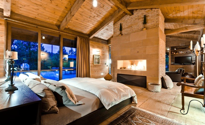Dream homes between modern and rustic interior design for Chambre a coucher champetre