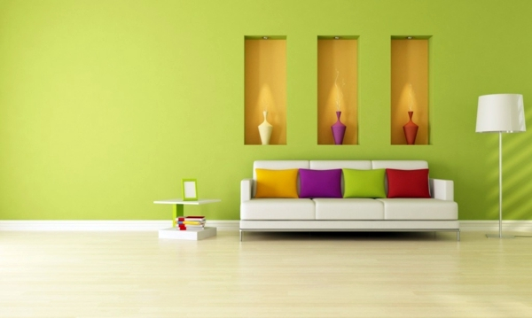 Wandfarbe - Wall colors living room - which come in shades shortlisted ...