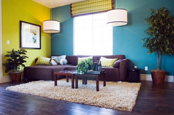Two-Tone Wall Wall colors living room - which come in shades shortlisted?