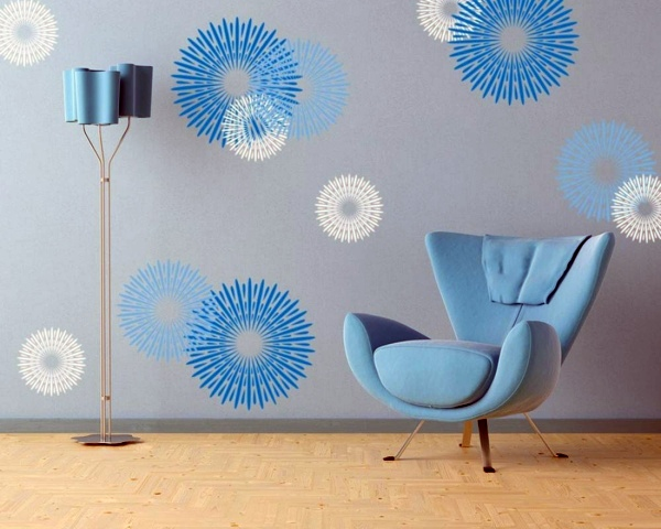 Interior Blue Wall Ideas slate blue wall design ideas with hues interior farben hues