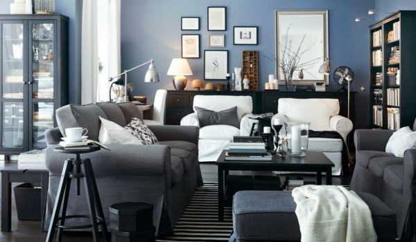 ... Slate Blue Wall   Wall Design Ideas With Blue Hues Part 46