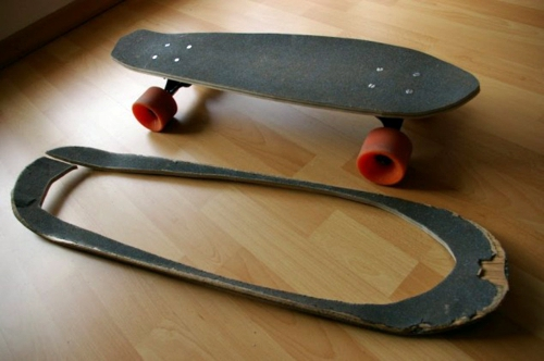 recycle the old card roll 19 diy home design ideas amazing skateboard products - Skateboard Design Ideas