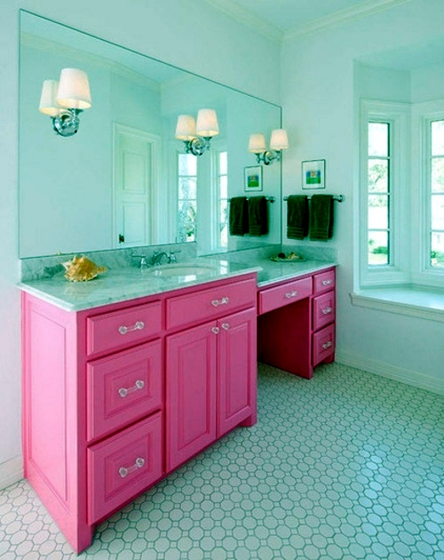 Perfect In Color Bathed Elegant Ideas For Pink Bathroom Designs