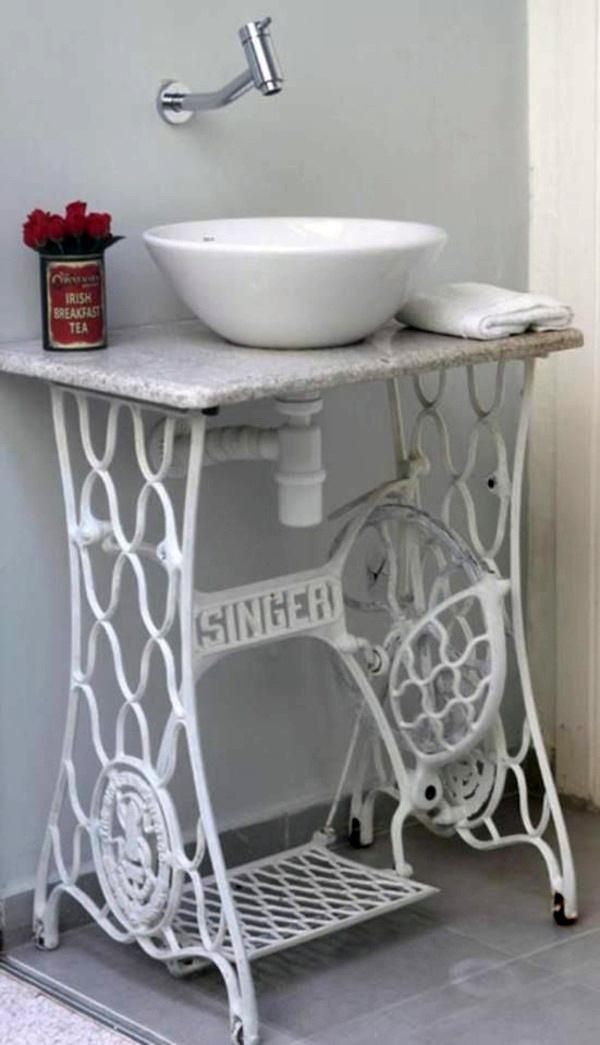Redesign old furniture use the old sewing machine as for Idea casa mobili