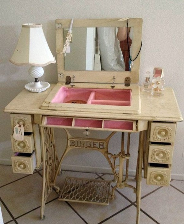 diy vintage furniture. brilliant vintage redesign old furniture  use the sewing machine as vintage on diy vintage furniture t