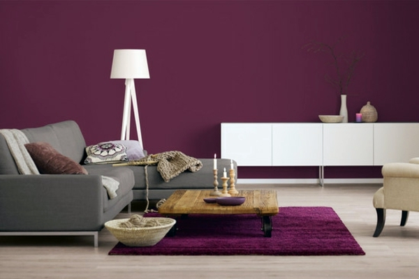 Great ... Wall Color Berry   Trendy Shades For A Modern Wall Design Images